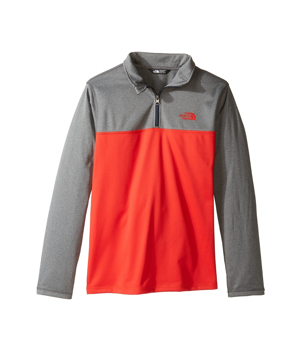 The North Face Kids - Tech Glacier 1/4 Zip (Little Kids/Big Kids) (High Risk Red (Prior Season)) Boy's Long Sleeve Pullover
