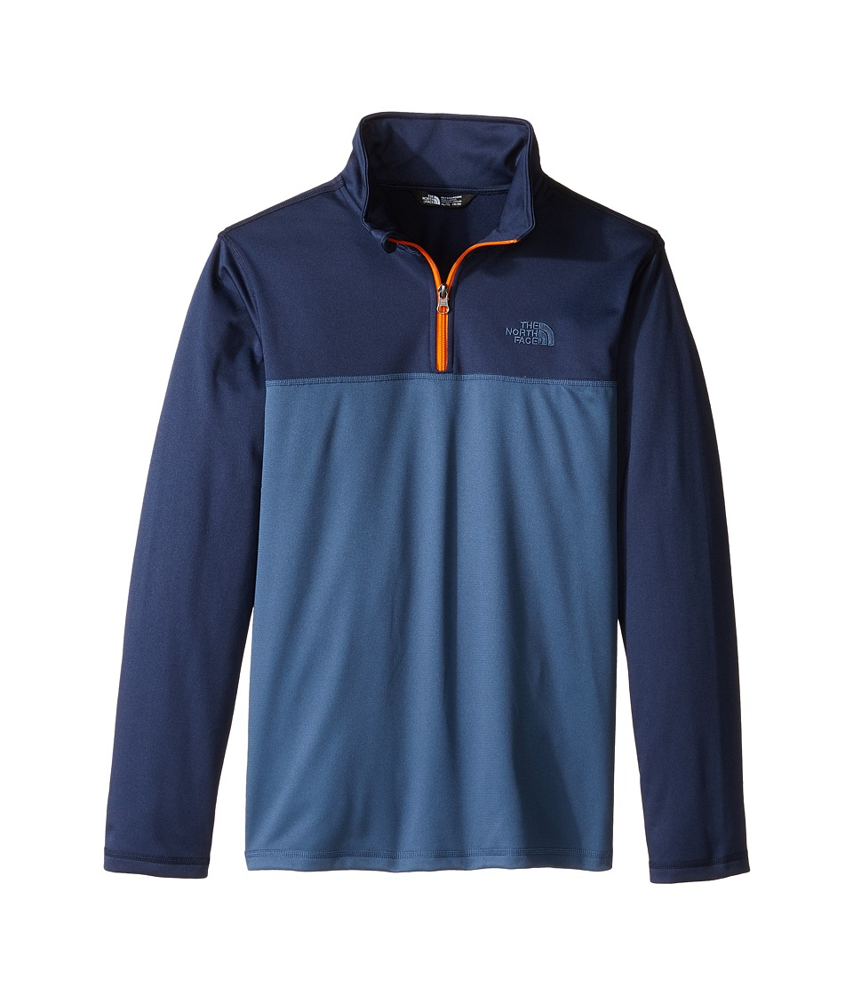 The North Face Kids - Tech Glacier 1/4 Zip (Little Kids/Big Kids) (Shady Blue (Prior Season)) Boy's Long Sleeve Pullover