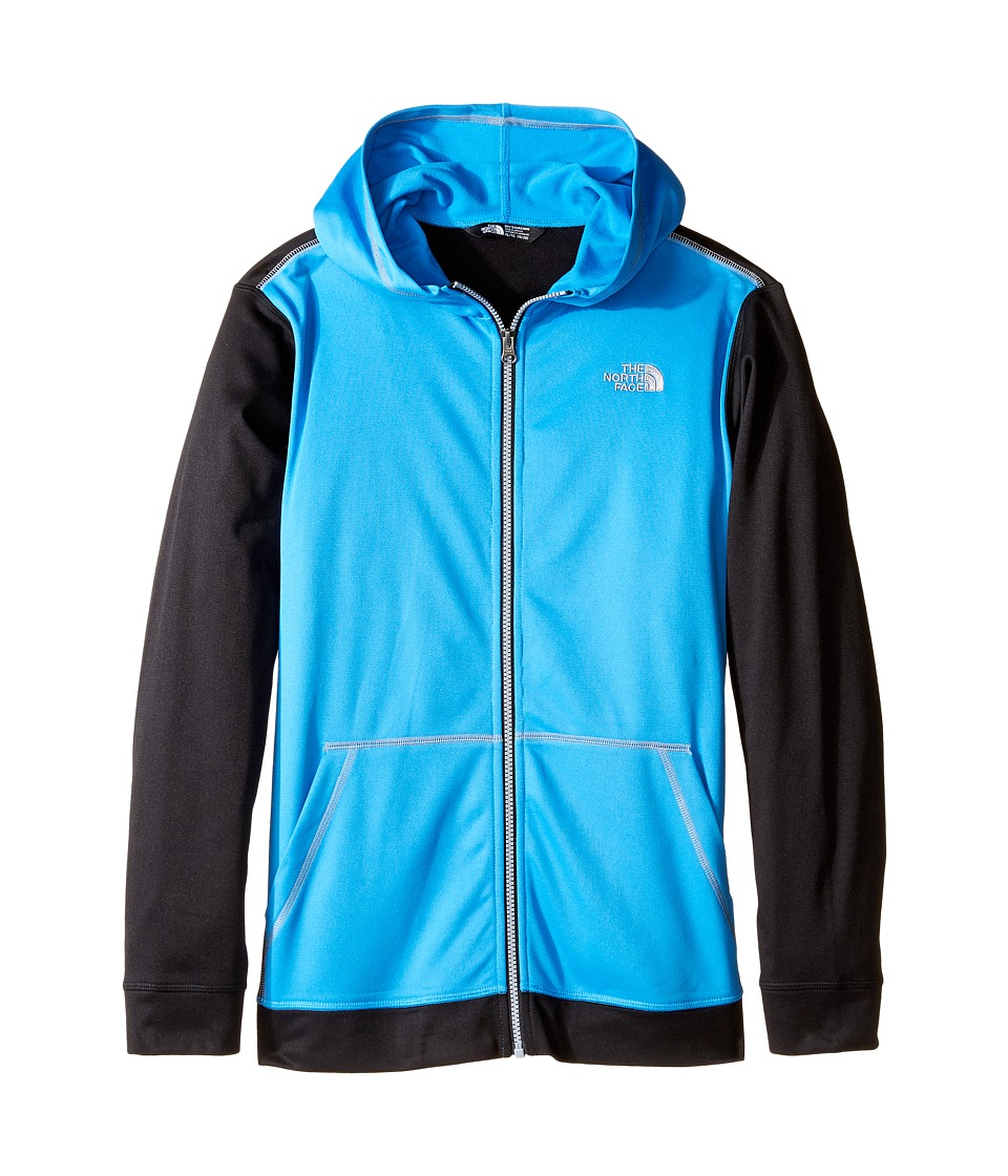 The North Face Kids - Tech Glacier Full Zip Hoodie (Little Kids/Big Kids) (Clear Lake Blue (Prior Season)) Boy's Sweatshirt