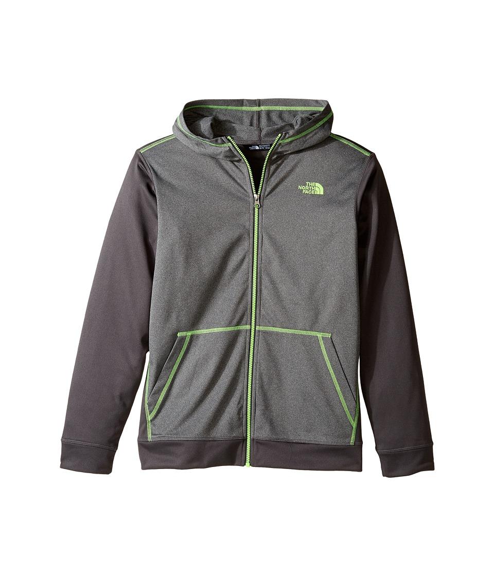 The North Face Kids - Tech Glacier Full Zip Hoodie (Little Kids/Big Kids) (TNF Medium Grey Heather (Prior Season)) Boy's Sweatshirt