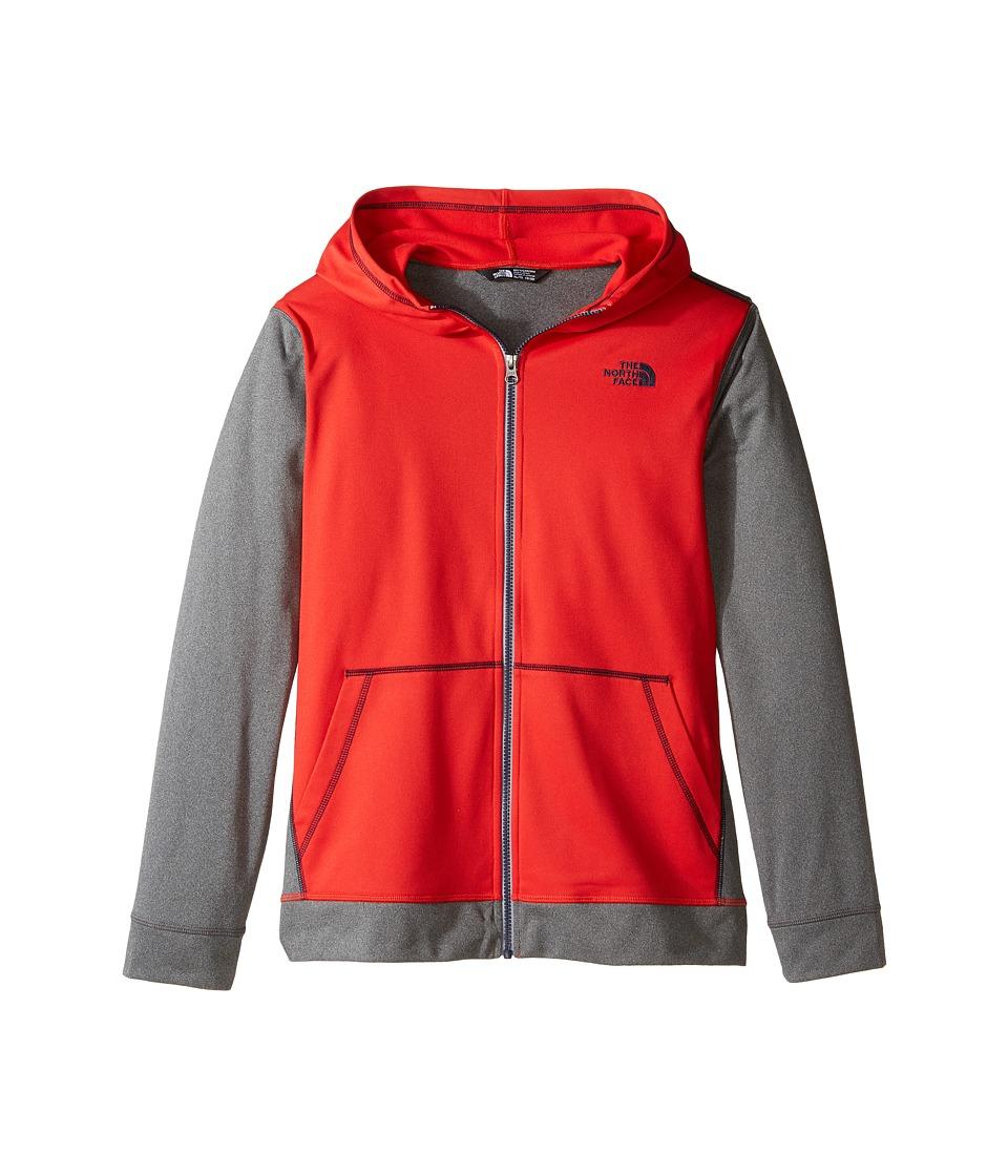 The North Face Kids - Tech Glacier Full Zip Hoodie (Little Kids/Big Kids) (High Risk Red (Prior Season)) Boy's Sweatshirt