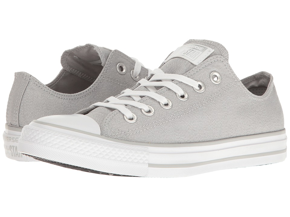 Converse Chuck Taylor(r) All Star(r) Brea Animal Glam Textile Ox (Grey/Silver/White) Women