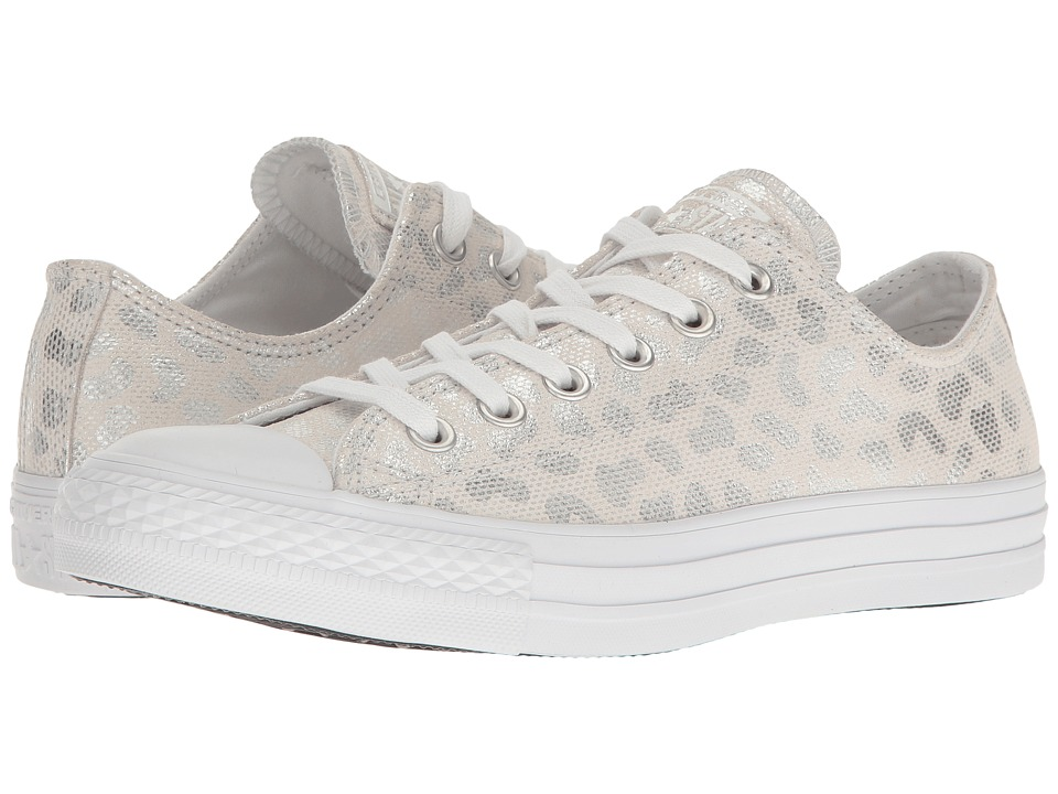 Converse - Chuck Taylor All Star Brea Animal Glam Textile Ox (White/Silver/White) Women's Classic Shoes