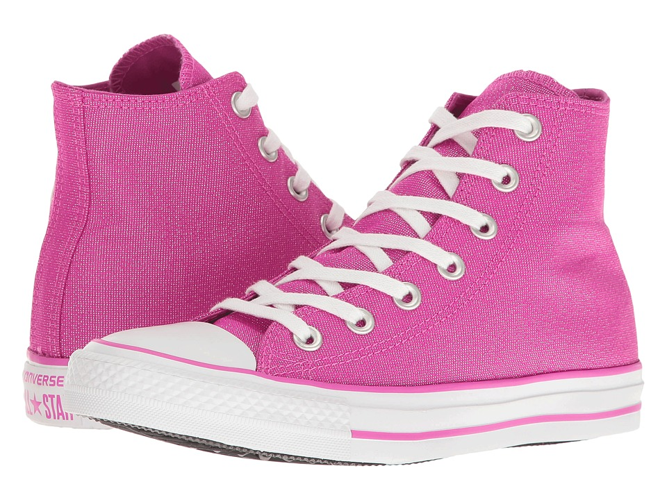 Converse - Chuck Taylor All Star Brea Animal Glam Textile Hi (Magenta Glow/Silver/White) Women's Classic Shoes