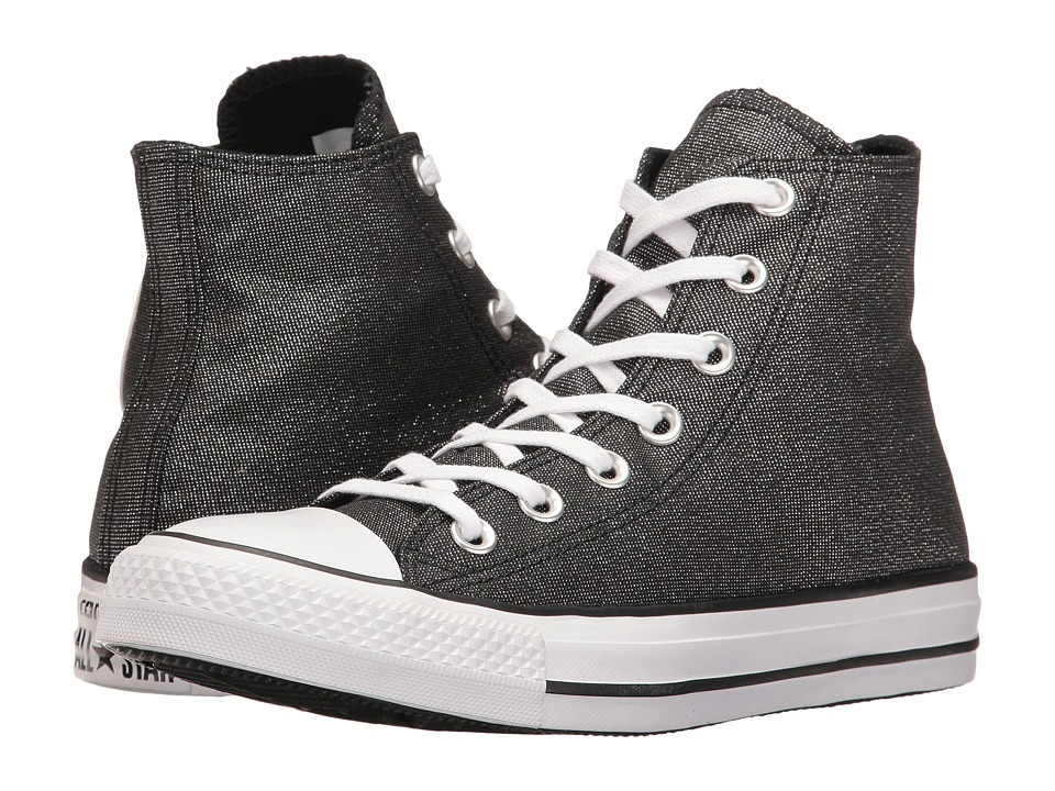 Converse - Chuck Taylor All Star Brea Animal Glam Textile Hi (White/Black/White) Women's Classic Shoes
