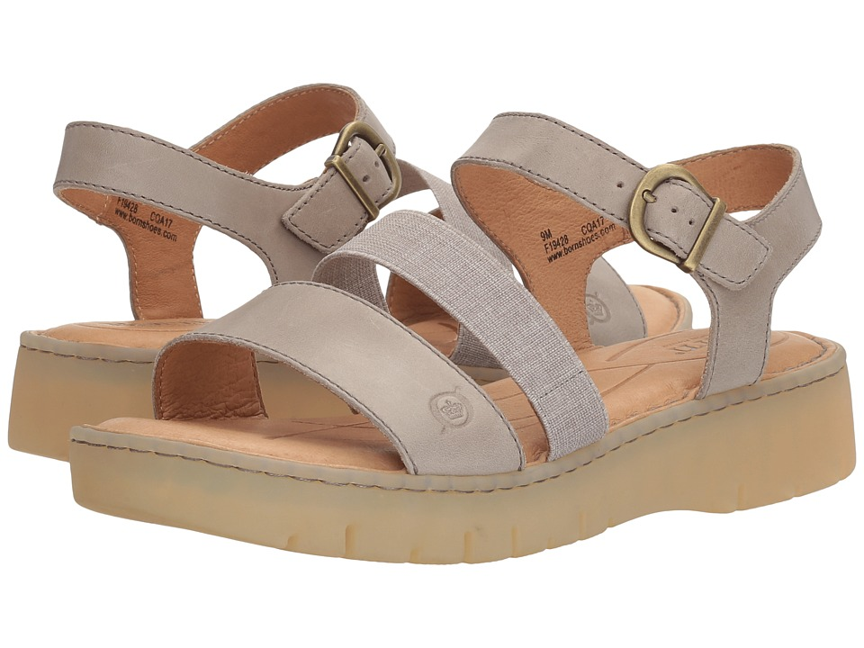 Born - Cape Town (Light Grey Full Grain) Women's Sandals
