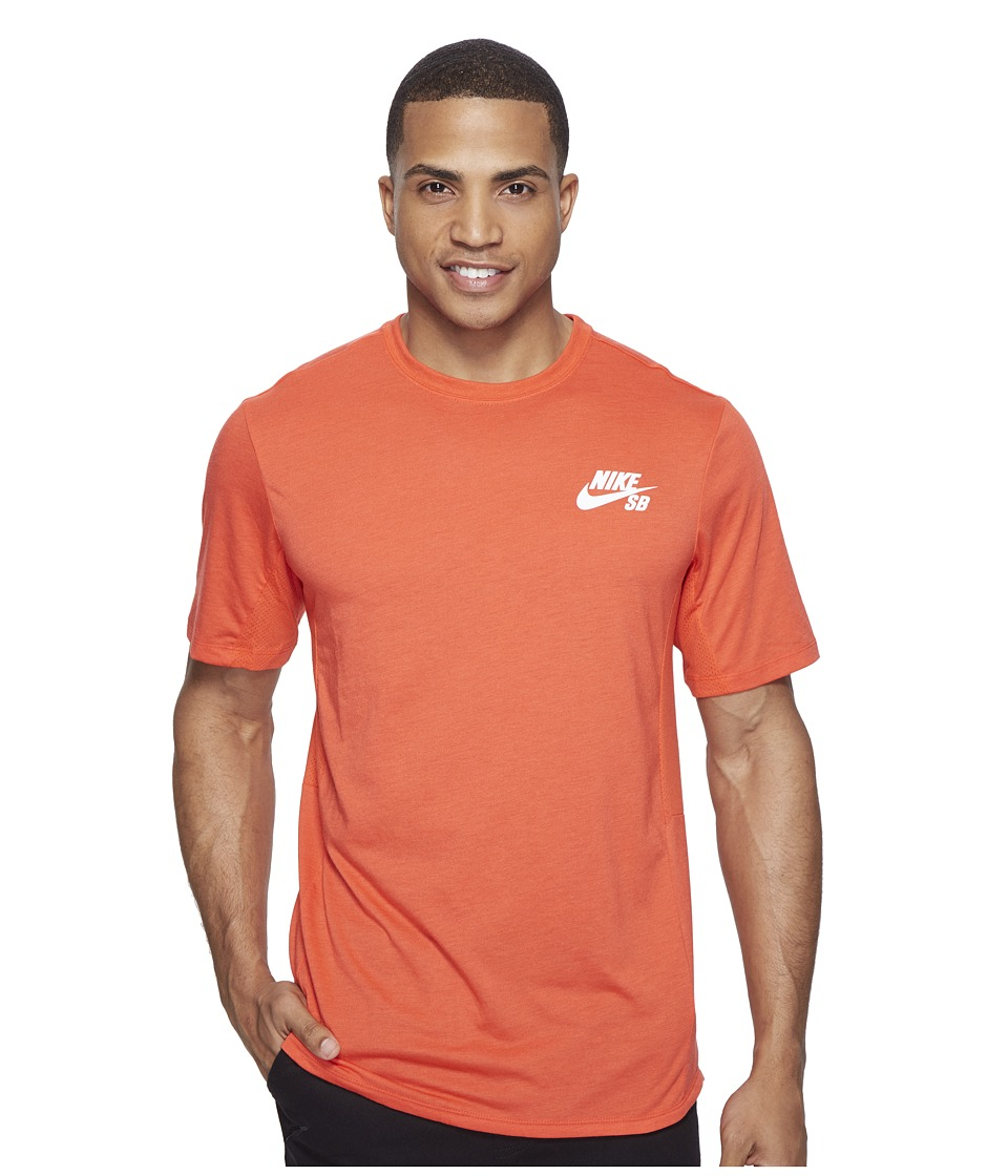 Nike SB - SB Dry Skyline Top (Max Orange/White) Men's T Shirt
