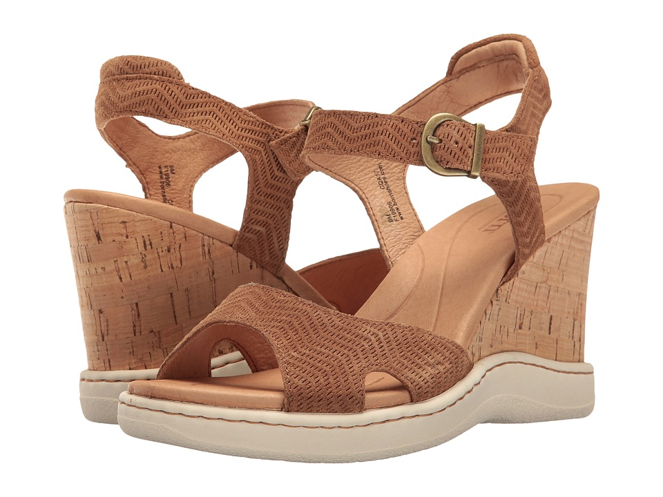 Born - Puno (Brown Suede) Women's Wedge Shoes