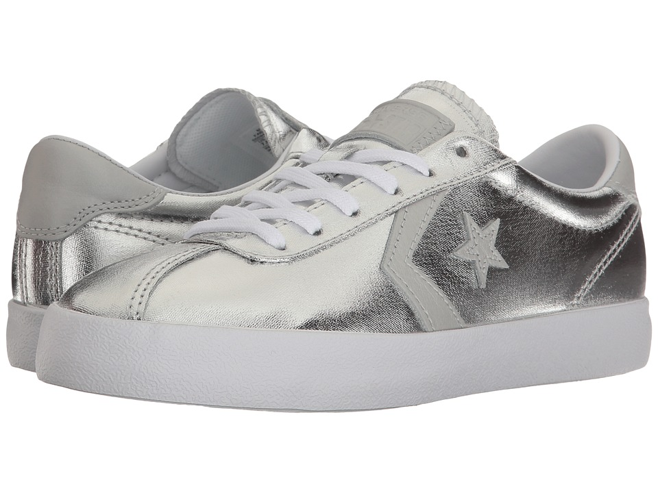 Converse - Breakpoint Metallic Canvas Ox (Silver/White/White) Women's Shoes