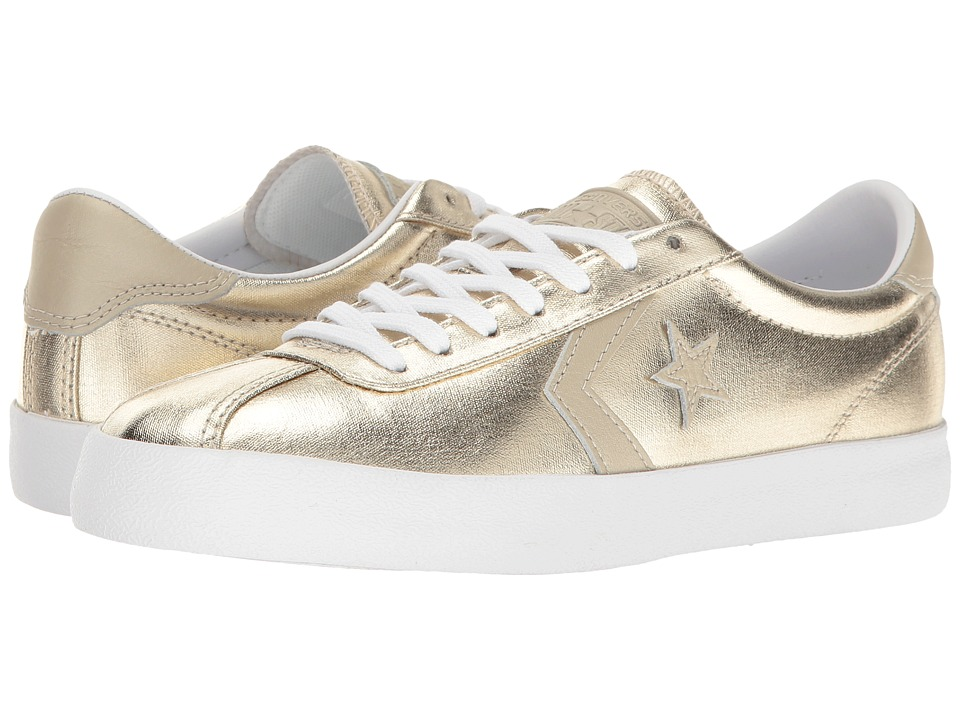 Converse - Breakpoint Metallic Canvas Ox (Light Gold/White/White) Women's Shoes