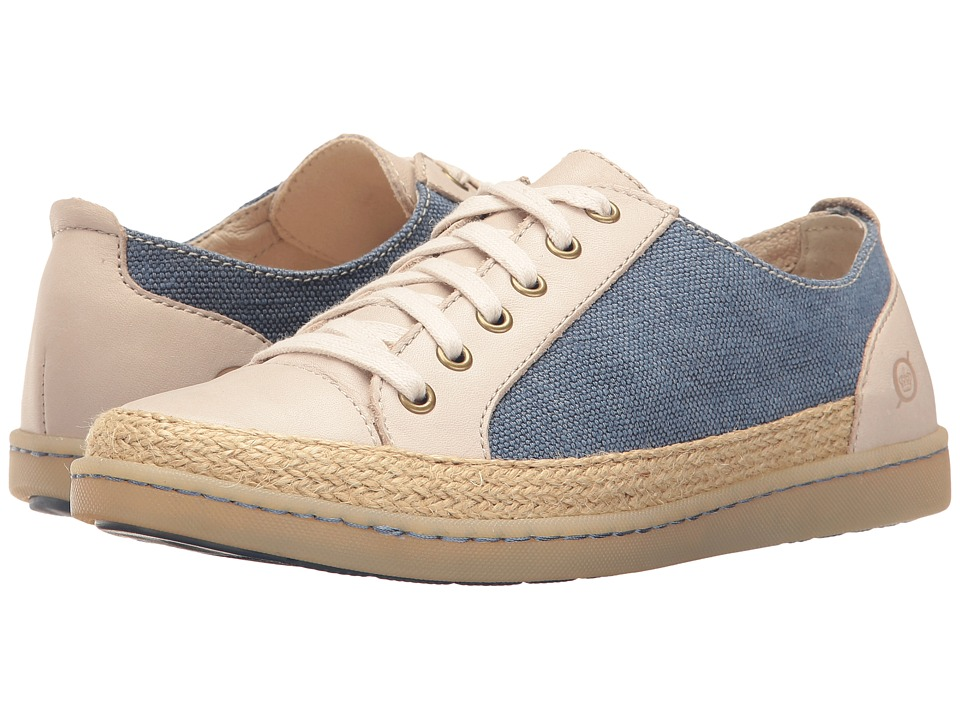 Born - Corfield (Dark Blue/Cream Canvas Combo) Women's Lace up casual Shoes