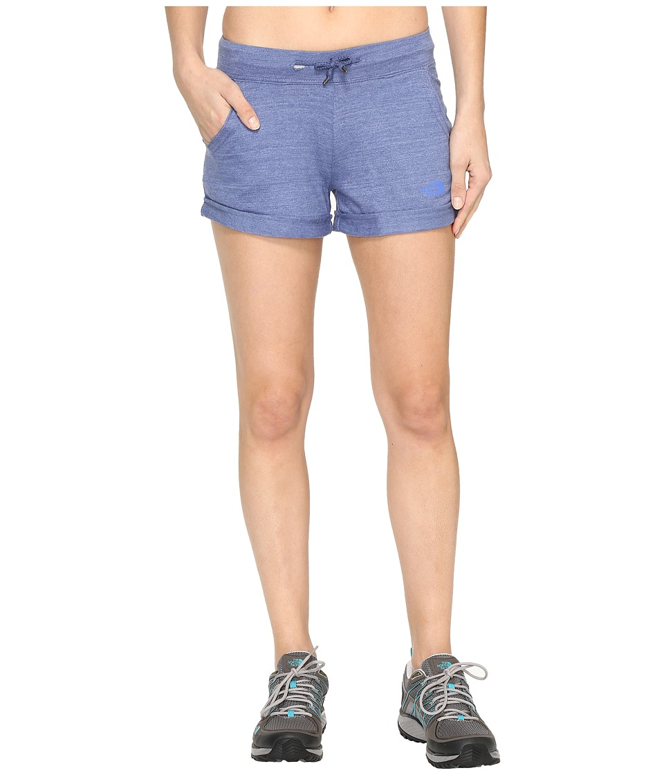The North Face - Tri-Blend Shorts (Coastal Fjord Blue Heather (Prior Season)) Women's Shorts