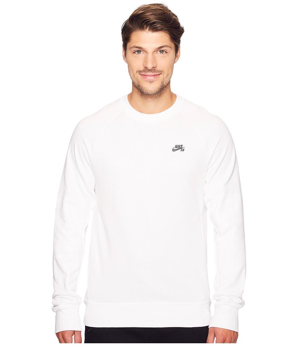 Nike SB - SB Everett Repellent Motion Crew Shirt (White/Anthracite) Men's Long Sleeve Pullover