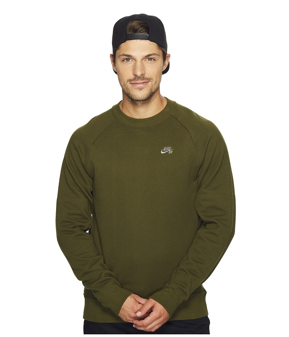 Nike SB - SB Everett Repellent Motion Crew Shirt (Legion Green/Tumbled Grey) Men's Long Sleeve Pullover