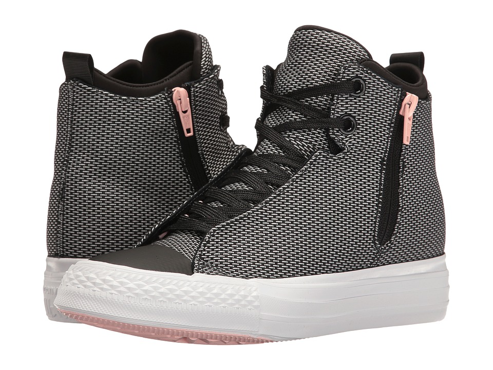 Converse - Chuck Taylor All Star Selene Basket Woven Mid (Black/Vapor Pink/White) Women's Shoes