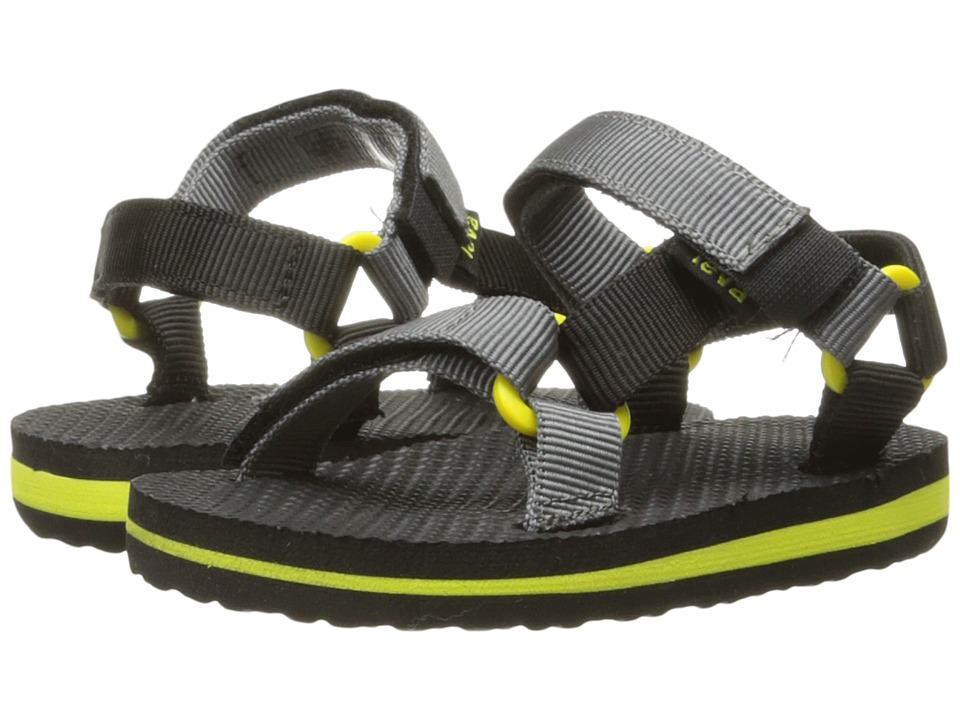 Teva Kids - Original Universal (Toddler) (Black/Grey/Lime) Boys Shoes