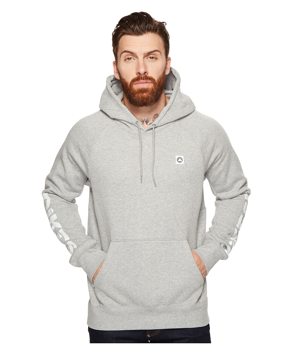 Nike SB - SB Icon Geo Hoodie (Dark Grey Heather/White) Men's Sweatshirt