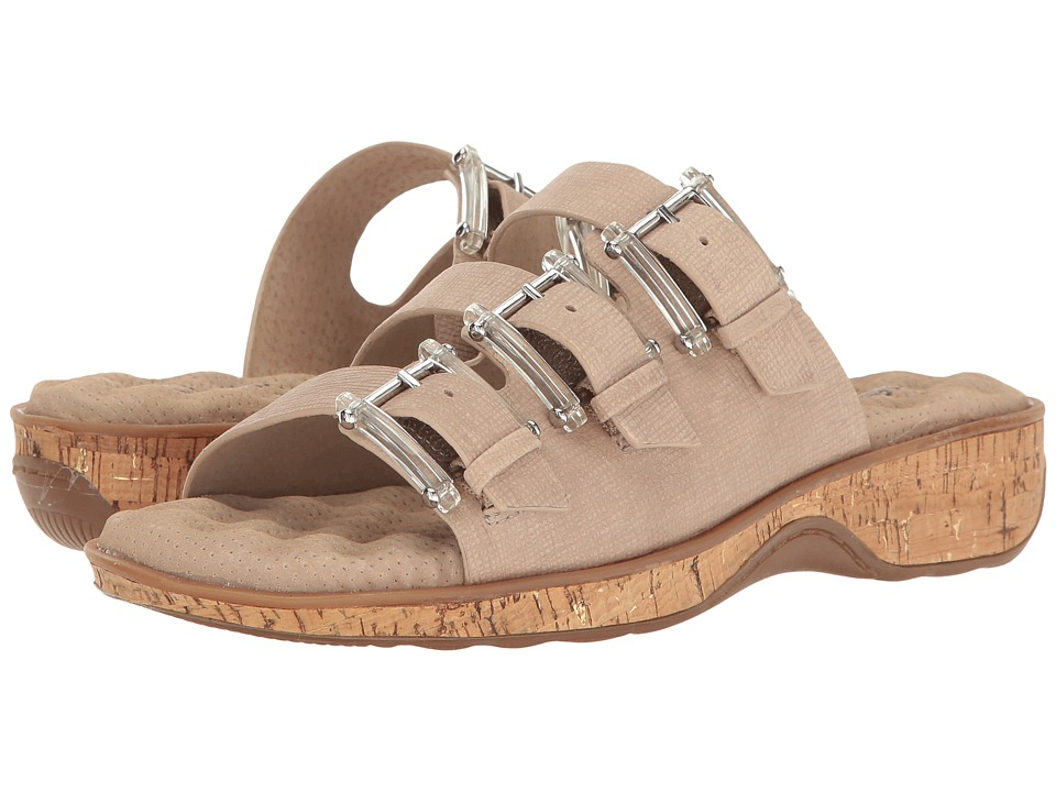 SoftWalk - Barts (Sand/Gold Cork) Women's Sandals