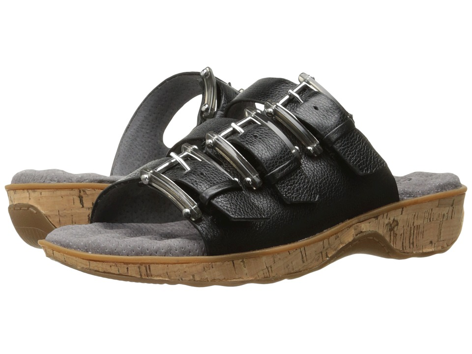 SoftWalk - Barts (Black) Women's Sandals