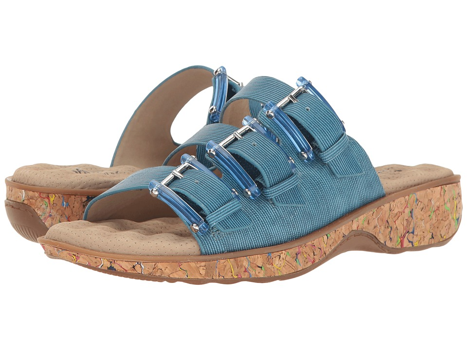 SoftWalk - Barts (Chambrey/Multi Cork) Women's Sandals
