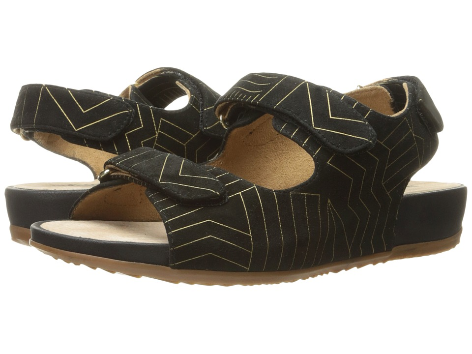 SoftWalk - Dana Point (Black/Gold) Women's Sandals