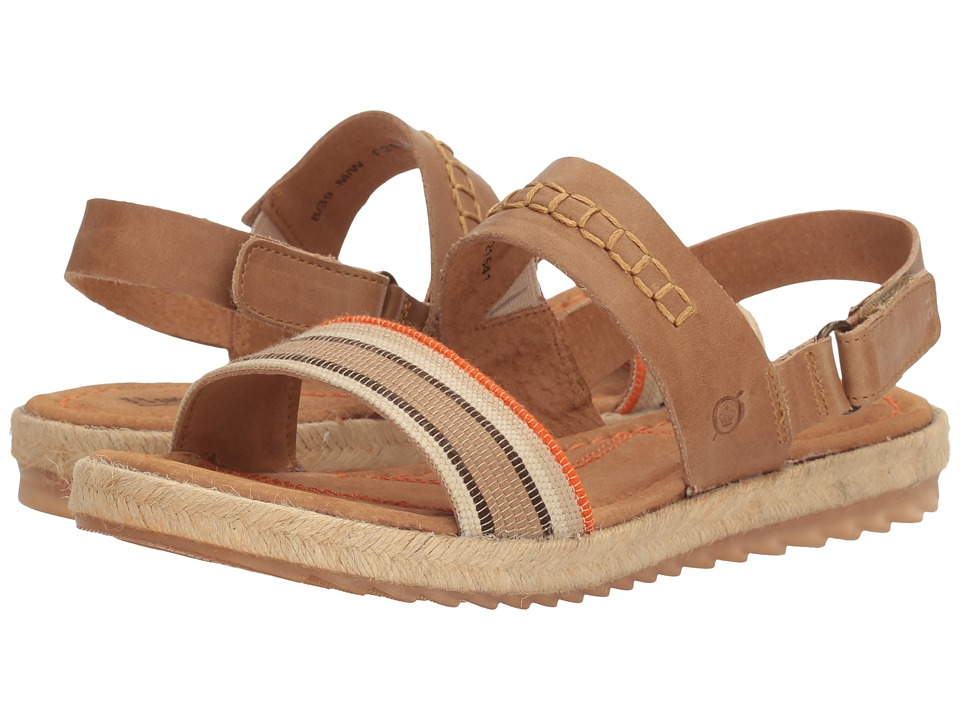 Born - Vigan (Light Brown Striped Fabric Combo) Women's Sandals