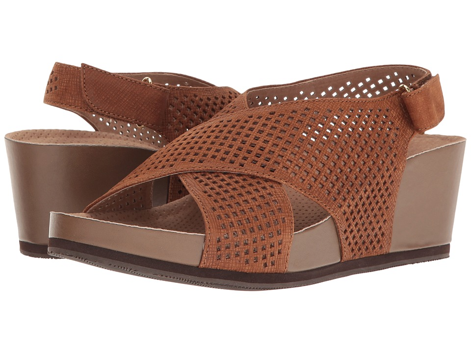 SoftWalk - Hansford (Cognac) Women's Wedge Shoes