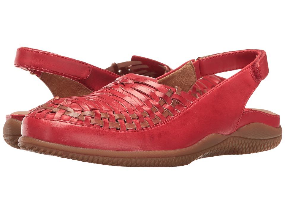 SoftWalk - Harper (Red/Tan) Women's Shoes