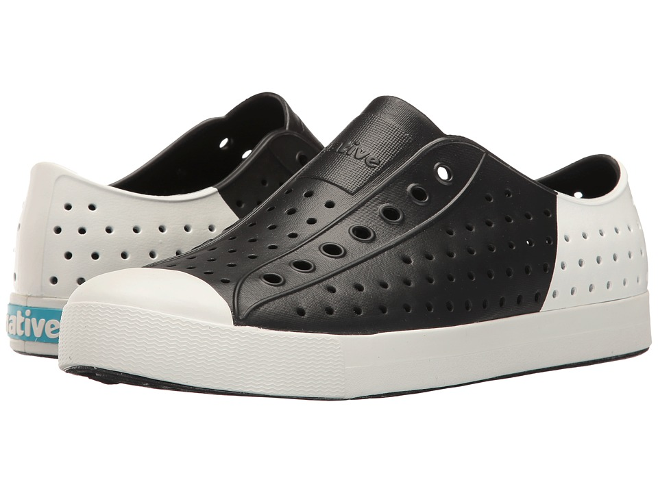 Native Shoes - Jefferson (Jiffy Black/Shell White/Shell Block) Shoes