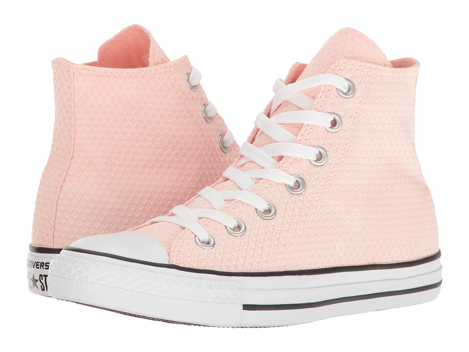 Converse - Chuck Taylor All Star Snake Woven Textile Hi (White/Vapor Pink/White) Women's Classic Shoes