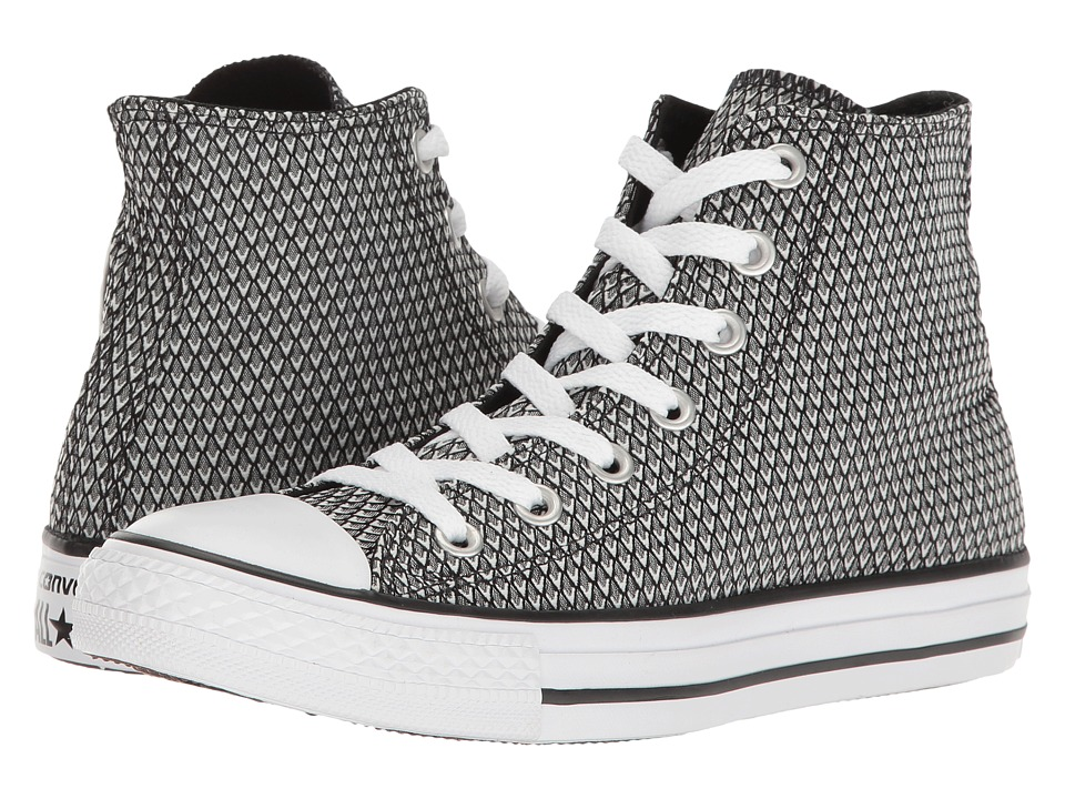 Converse - Chuck Taylor All Star Snake Woven Textile Hi (White/Black/White) Women's Classic Shoes