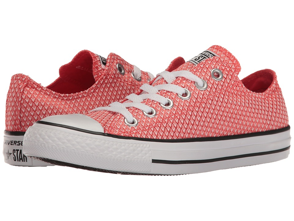 Converse Chuck Taylor(r) All Star(r) Snake Woven Textile Ox (Ultra Red/Black/White) Women