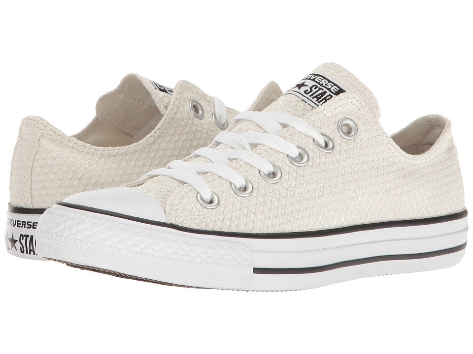 Converse - Chuck Taylor All Star Snake Woven Textile Ox (Buff/Black/White) Women's Classic Shoes