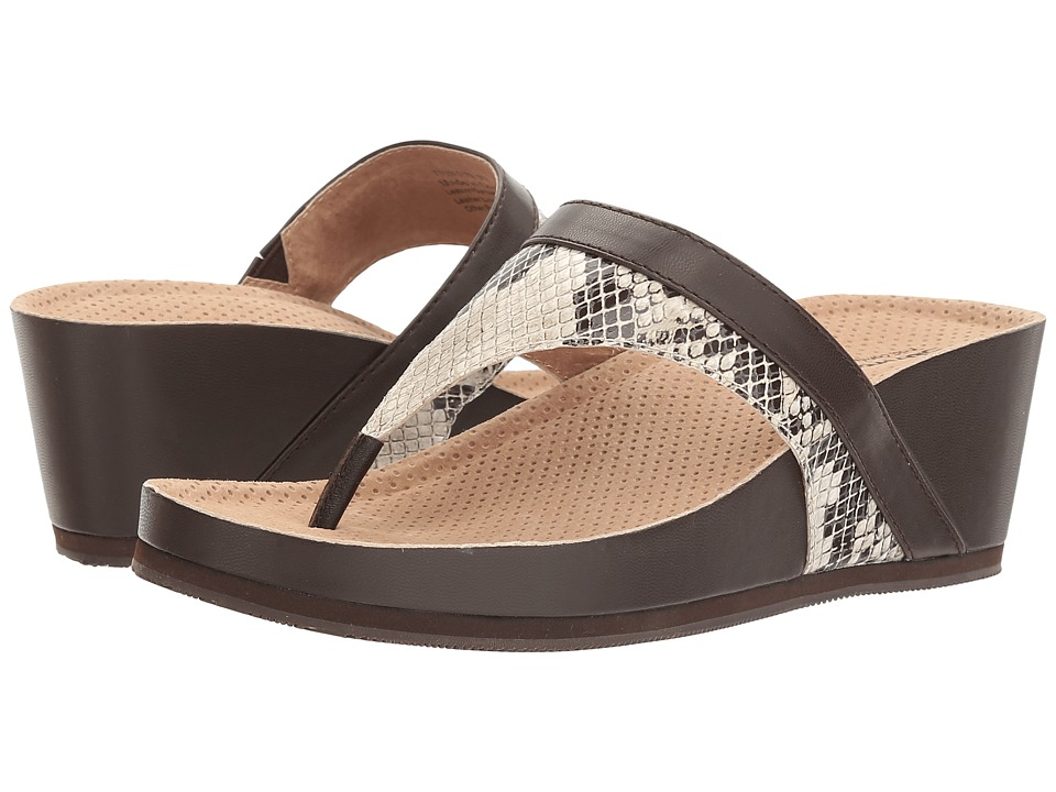 SoftWalk - Heights (Mink Snake) Women's Wedge Shoes
