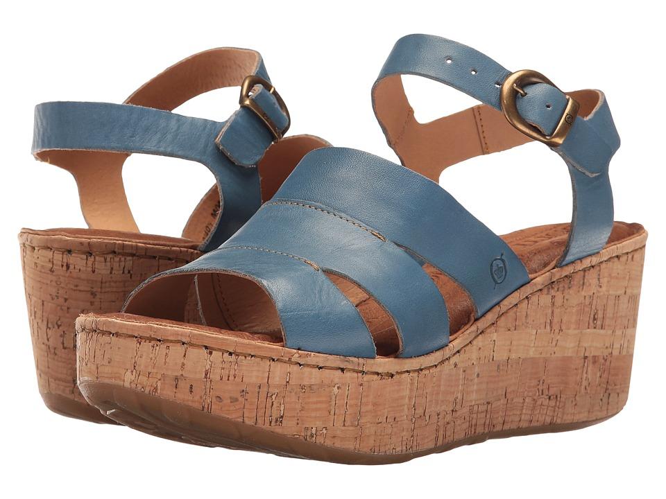 Born - Anori (Blue Full Grain) Women's Wedge Shoes
