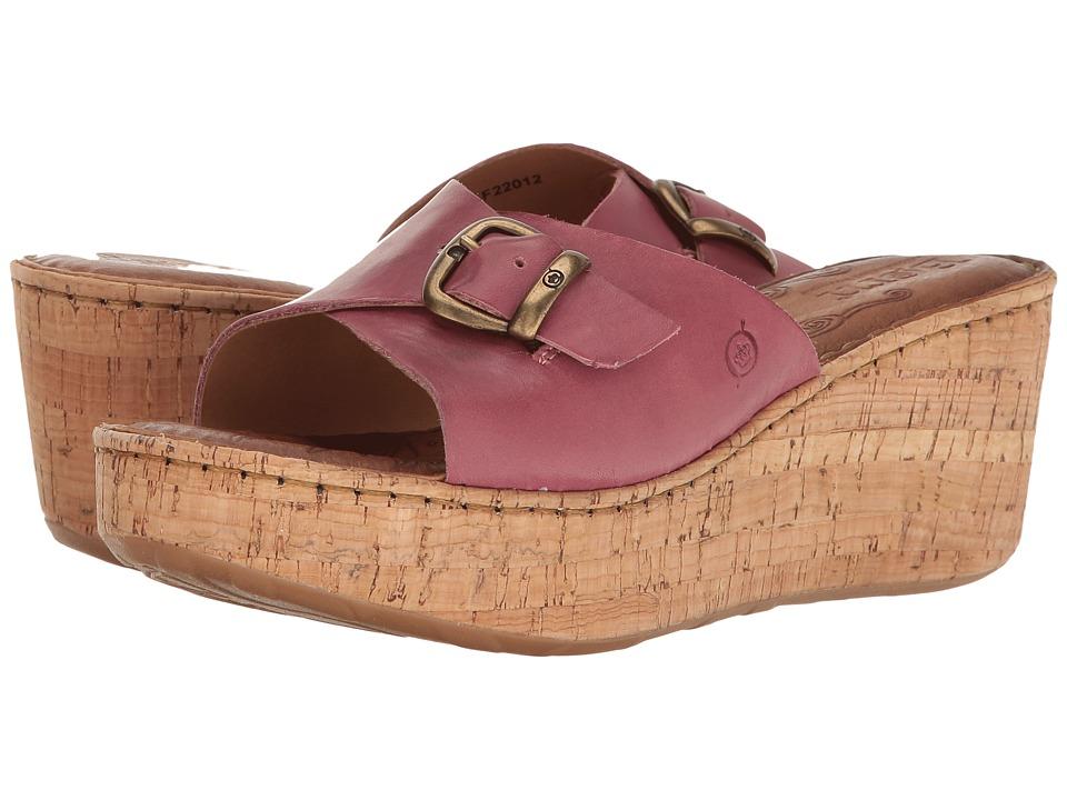 Born - Araya (Dark Pink Full Grain) Women's Wedge Shoes
