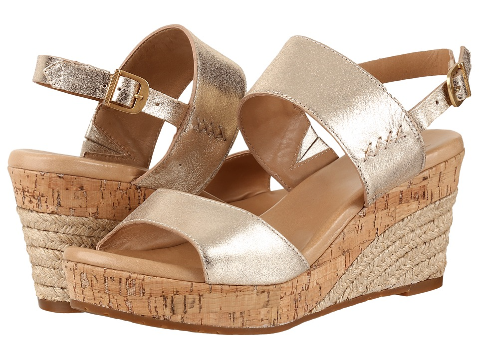 UGG - Elena Metallic (Gold) Women's Wedge Shoes