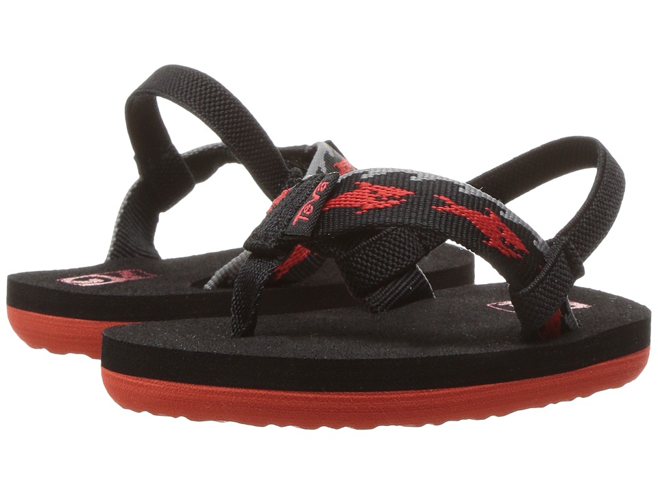 Teva Kids - Mush II (Toddler) (Sharks Black/Red 2) Boys Shoes