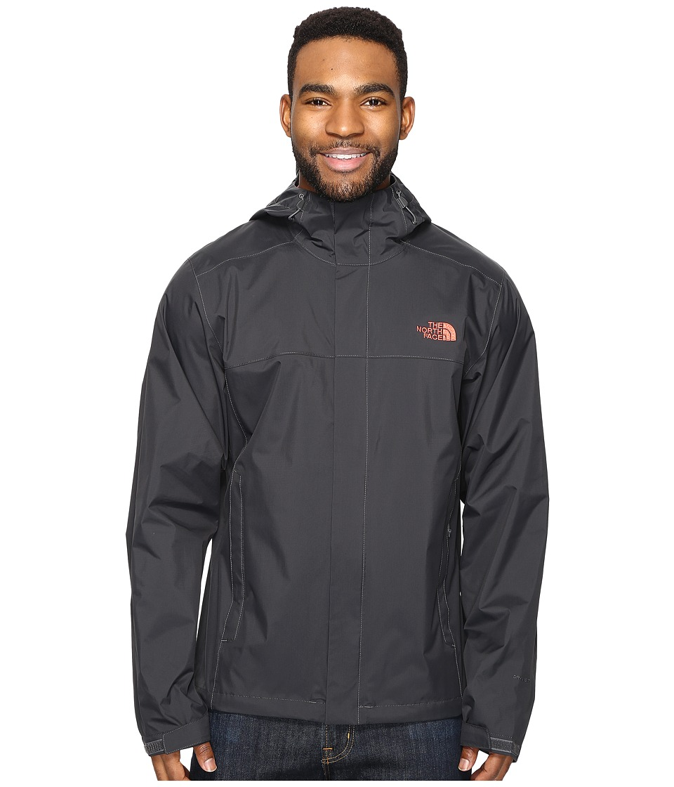 The North Face - Venture 2 Jacket (Asphalt Grey/Asphalt Grey/Sunbaked Red (Prior Season)) Men's Coat
