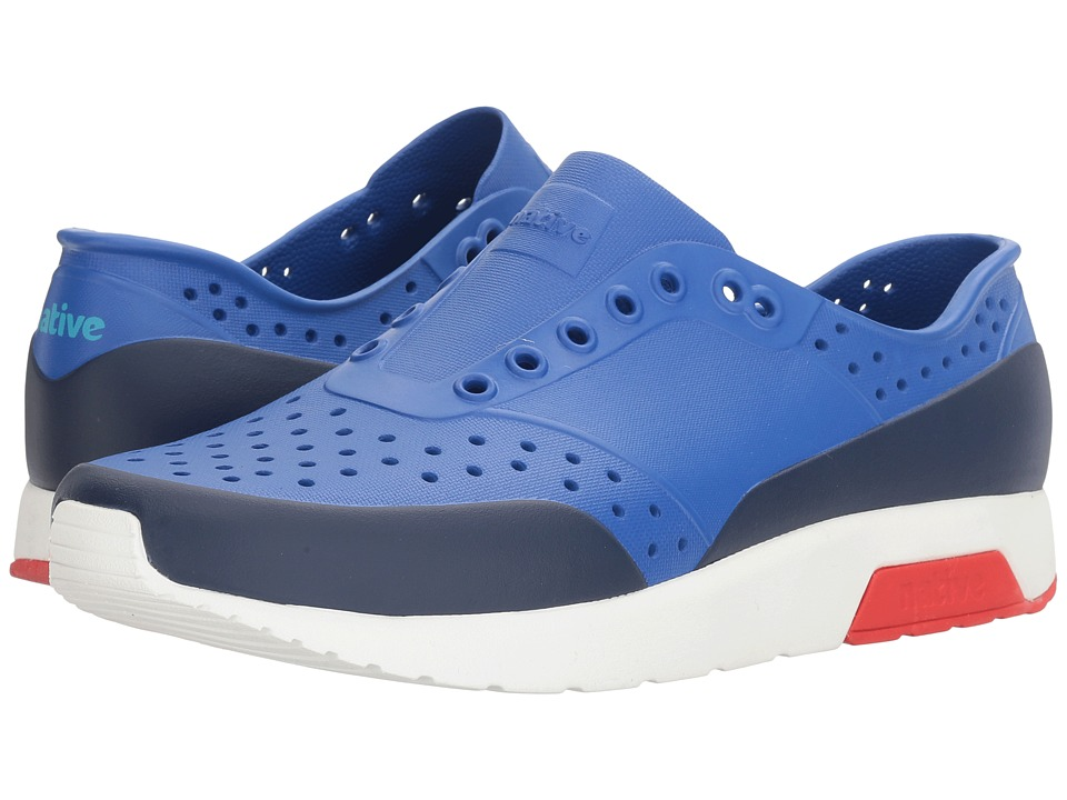 Native Shoes - Lennox (UV Blue/Shell White/Torch Red/Regatta Block) Athletic Shoes