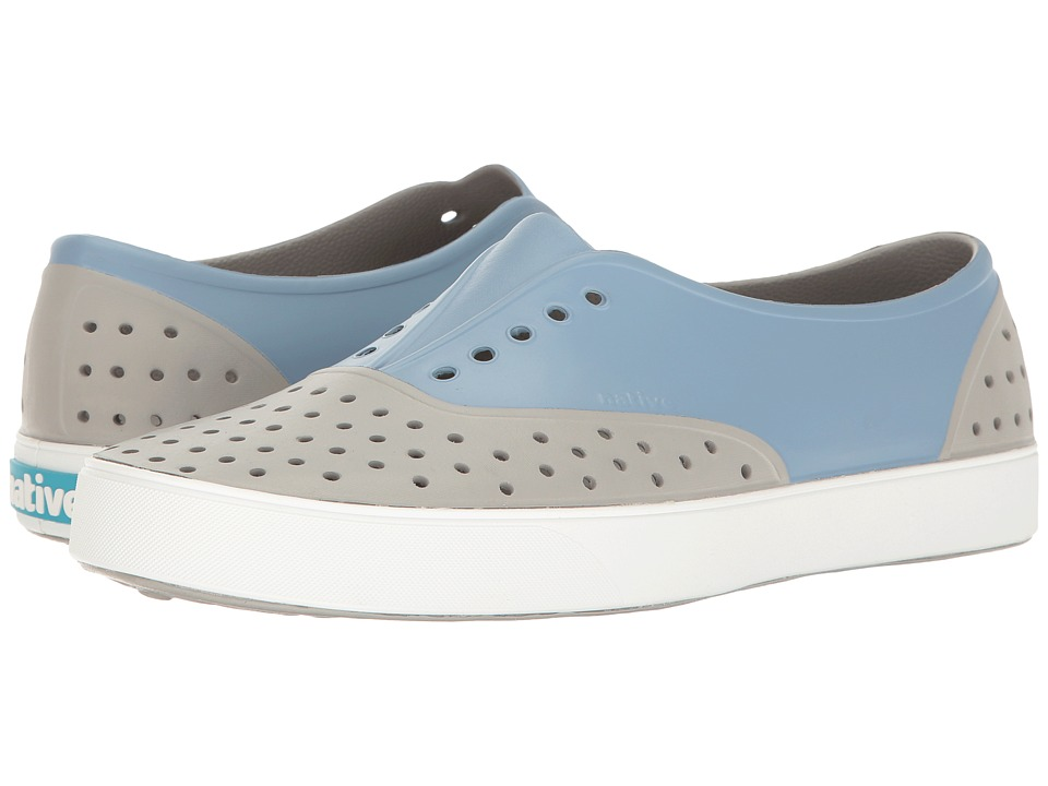 Native Shoes Miller (Pigeon Grey/Shell White/Wolf Block) Slip on Shoes