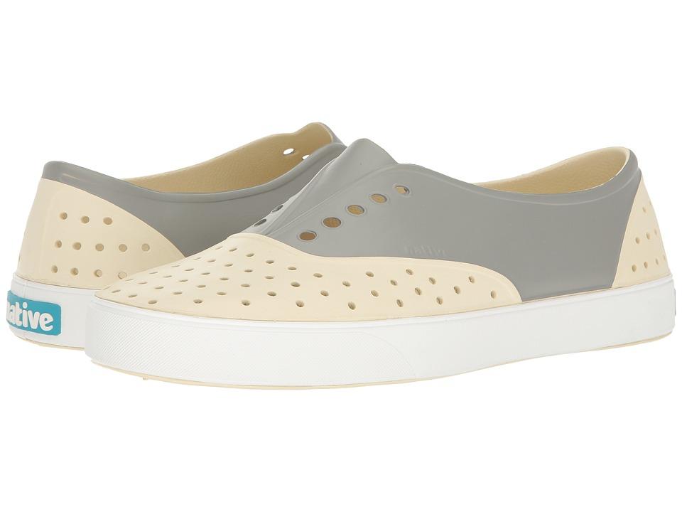 Native Shoes Miller (Bone White/Shell White/Pigeon Block) Slip on Shoes