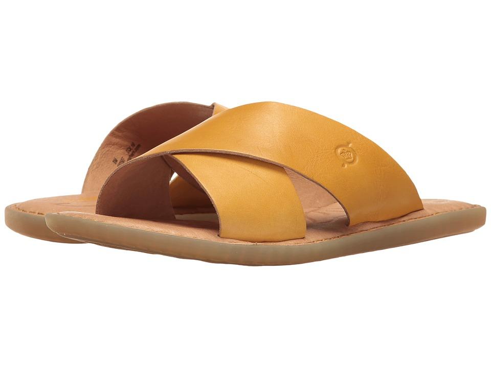 Born - Kula (Yellow Full Grain) Women's Dress Sandals