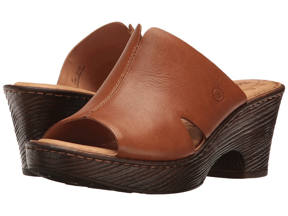Born - Crato (Brown Full Grain) Women's Clog/Mule Shoes