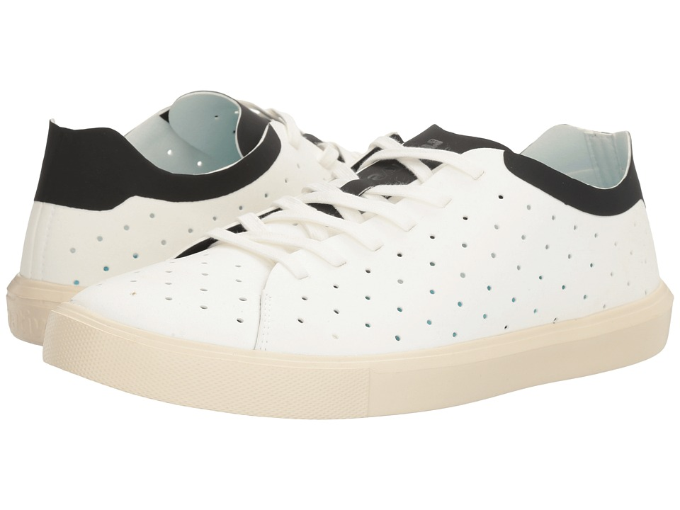 Native Shoes - Monaco Low (Shell White/Jiffy Black/Bone White) Lace up casual Shoes