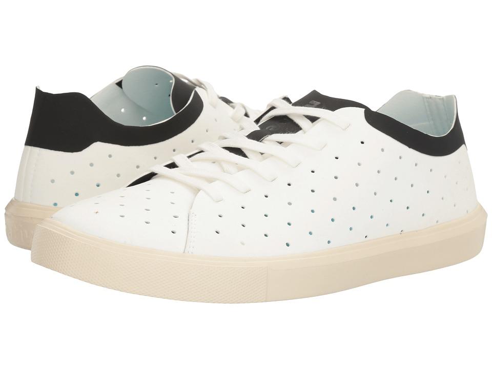Native Shoes Monaco Low (Shell White/Jiffy Black/Bone White) Lace up casual Shoes