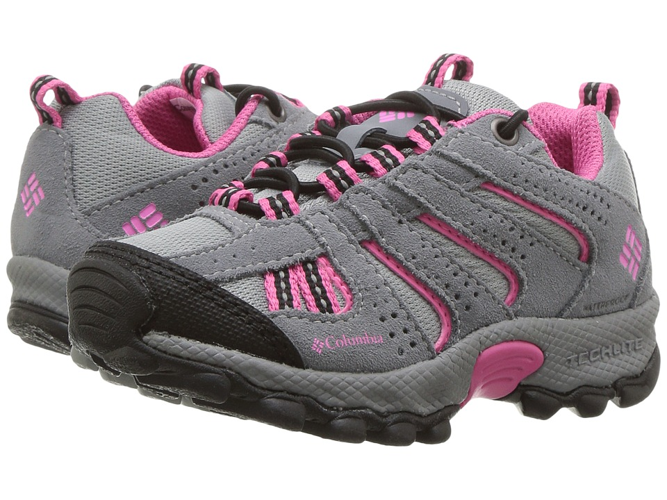 Columbia Kids - North Plains Waterproof (Toddler/Little Kid) (Monument/Wild Geranium) Girls Shoes