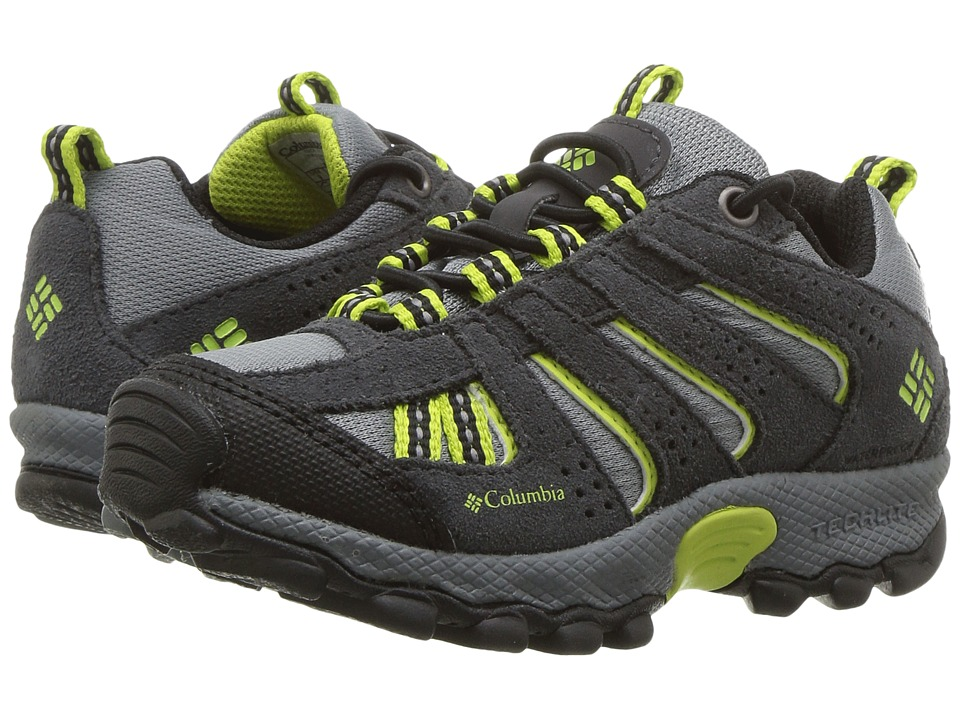 Columbia Kids - North Plains Waterproof (Toddler/Little Kid) (Grey Ash/Voltage) Boys Shoes