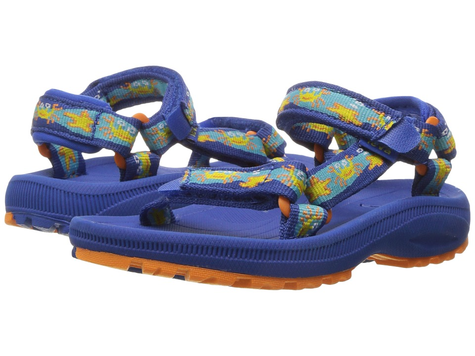 Teva Kids Hurricane 2 (Toddler) (Crazy Crabs Blue/Orange) Boys Shoes