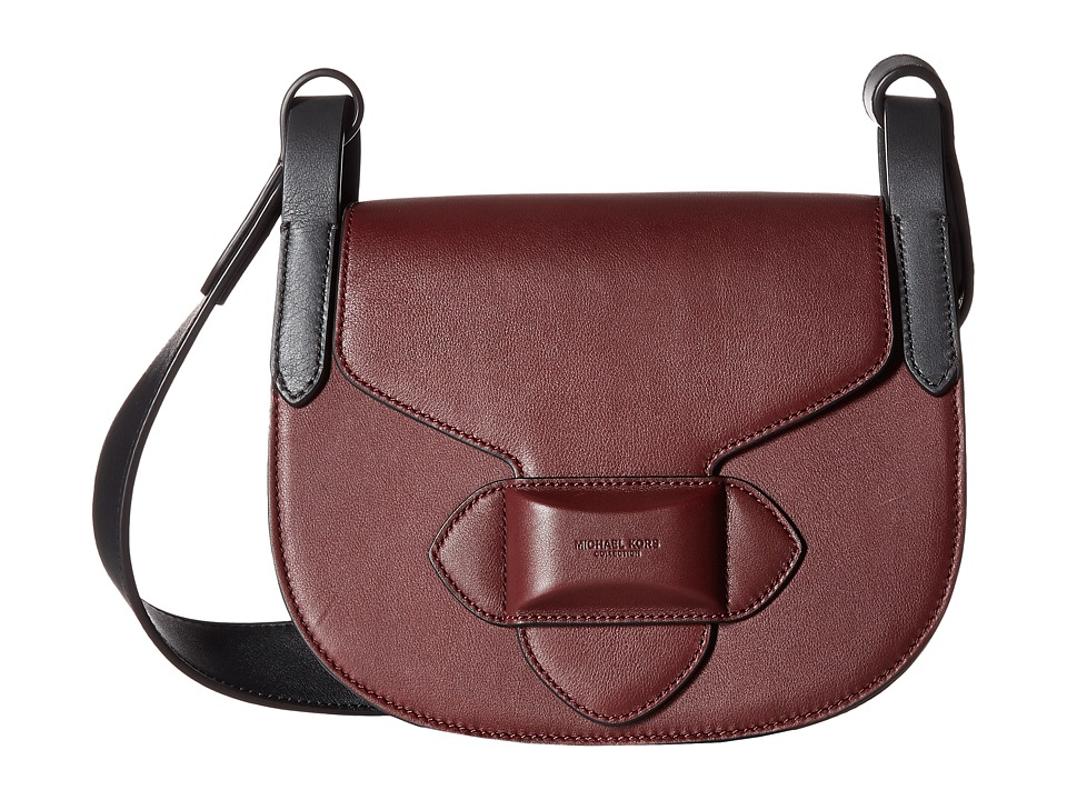 Michael Kors - Sm Crossbody Saddle Bag (Burgundy) Handbags